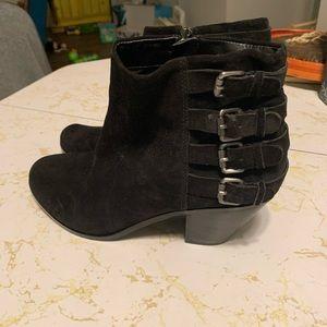 Sam Edelman Black Heeled Boots NWOT Suede 10